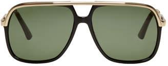 Gucci Black Sensual Romanticism Aviator Sunglasses