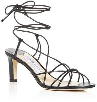 Jimmy Choo Women's Tao 65 Ankle-Tie Mid-Heel Sandals