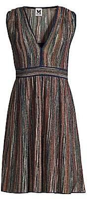M Missoni Women's Sleeveless Lurex Fit-&-Flare Dress
