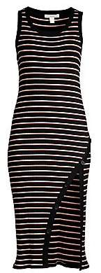 Joie Women's Polymela Stripe Side Slit Knit Midi Dress