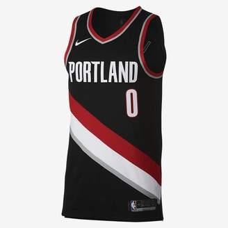 Nike Damian Lillard Icon Edition Authentic (Portland Trail Blazers) Men's NBA Connected Jersey