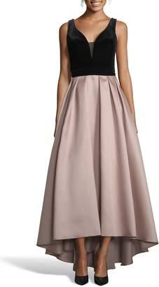 Xscape Evenings Mikado Velvet Bodice Ball Gown
