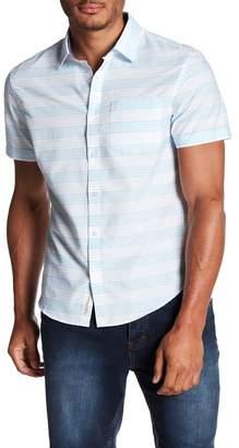 Original Penguin Short Sleeve Stripe Print Slim Fit Shirt