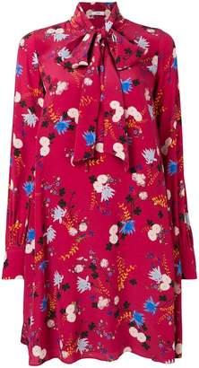 Erdem floral pussy bow dress