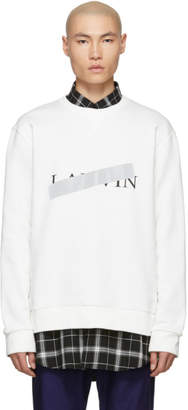 Lanvin White Cross Out Logo Sweatshirt