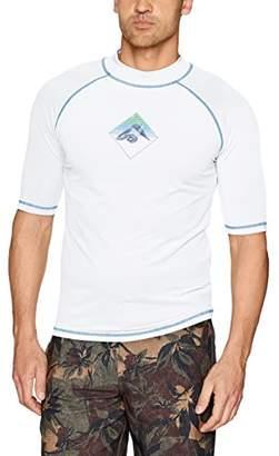 Kanu Surf Men's Paradise UPF 50+ Sun Protective Rashguard Swim Shirt