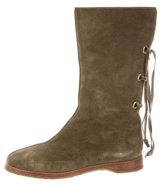 Jimmy Choo Suede Mid-Calf Boots