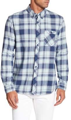 Quiksilver Burnsfield Plaid Print Regular Fit Woven Shirt