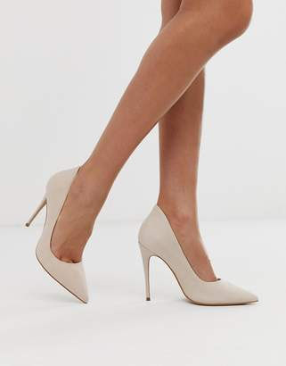 b6a3876a6ad Aldo pointed heeled court in natural leather