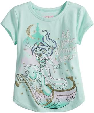 b3d94a86d Disneyjumping Beans Disney's Princess Jasmine Toddler Girl Glittery Graphic  Tee by Jumping Beans