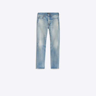 Balenciaga Stonewashed faded effect regular jeans