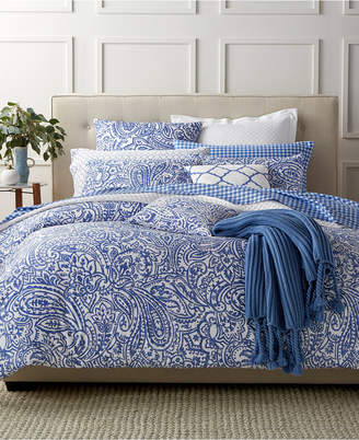 Charter Club Damask Designs Paisley Denim Full/Queen Comforter Set, Created for Macy's Bedding