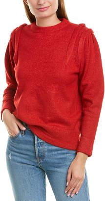 Moon River Folded Shoulder Sweater
