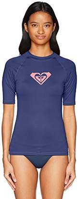 Roxy Women's Whole Hearted Short Sleeve Rashguard