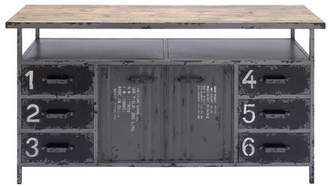 Cole & Grey Metal and Wood Sideboard