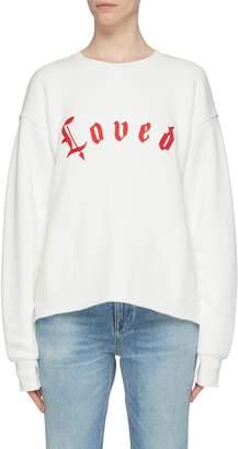 Current/Elliott 'The Pocket' slogan embroidered sweatshirt