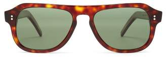 Cutler And Gross - D Frame Acetate Sunglasses - Mens - Brown