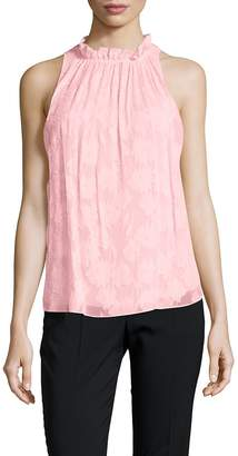 Rebecca Taylor Women's Daisy Sleeveless Sheer Blouse