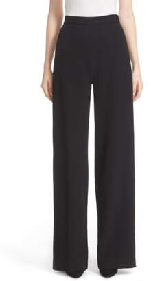 Lela Rose Stretch Wool High Waist Pants
