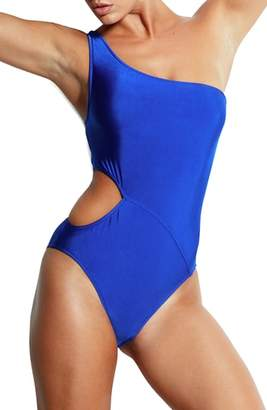 Seafolly Monroe One-Shoulder One-Piece Swimsuit