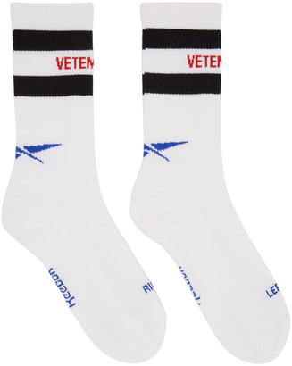 Vetements White Reebok Edition Classic Socks $85 thestylecure.com