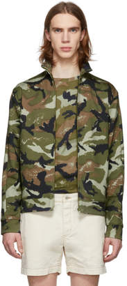 Valentino Green Art Camo Jacket