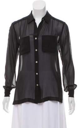 Brochu Walker Sheer Button-Up Top