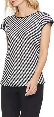 Vince Camuto Gingham Front Cap Sleeve Top