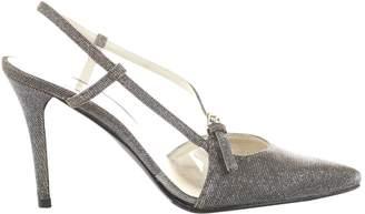 Stuart Weitzman Metallic Cloth Heels