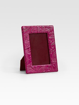 5 1/4 X 6 3/4 Bette Embossed Leather Frame