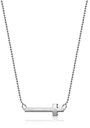 Alex Woo Little Elements Sterling Silver Cross Pendant Necklace of Length 40.64 cm