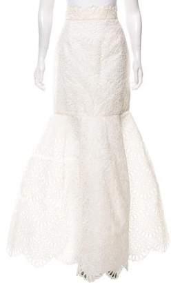 Oscar de la Renta Eyelet Maxi Skirt