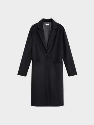 DKNY Classic Single Button Front Wool Coat