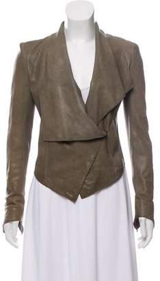 Helmut Lang Asymmetrical Leather Jacket