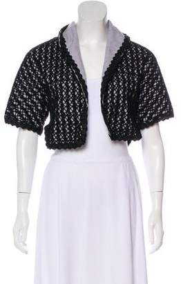 Alaia Patterned Cropped Jacket