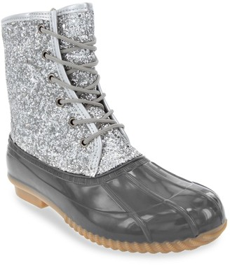Sugar Skipper Women's Waterproof Glitter Rain Boots