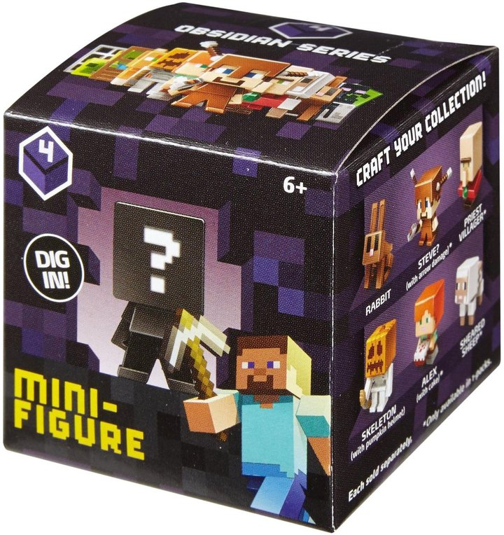 Minecraft Collectible Figure Mystery Blind Box (Series and Styles May Vary)