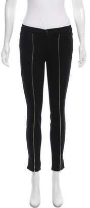 J Brand Zip-Accented Skinny Pants