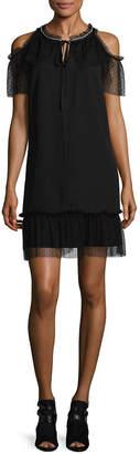 Libby Edelman Cold Shoulder Party Dress