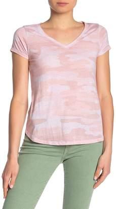 Lucky Brand Camo Burnout V-Neck T-Shirt