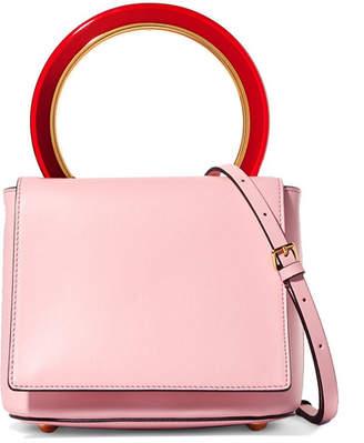 Marni Pannier Leather Shoulder Bag - Blush