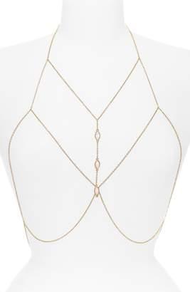 Topshop Jeweled Body Chain