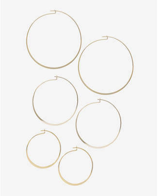 Express Set Of Three Flat Hoop Earrings $24.90 thestylecure.com
