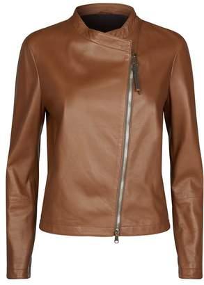 01e9e5db30e98 at Harrods · Brunello Cucinelli Leather Biker Jacket