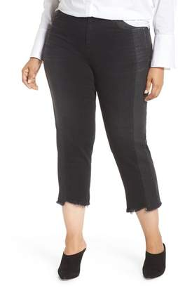 Marina Rinaldi ASHLEY GRAHAM X Idrovoro Step Hem Crop Jeans (Plus Size)