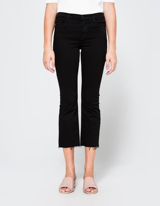Selena Mid Rise Crop Bootcut $218 thestylecure.com