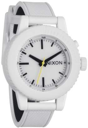 Nixon Women's A287-100 Gogo Rubber Band White Dial Watch