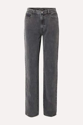 J Brand Elsa Hosk Sunday Mid-rise Straight-leg Jeans - Black