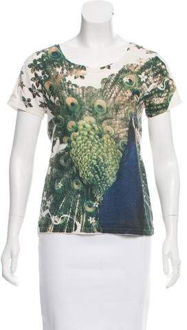 Marc by Marc Jacobs Peacock Printed Crew Neck T-Shirt
