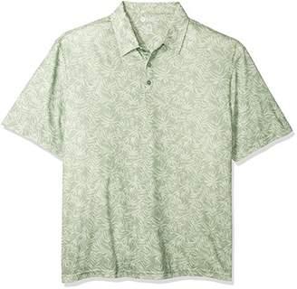 Haggar Men's Big and Tall Short Sleeve Printed Knit Polo